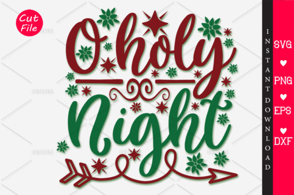 Print on Demand: O Holy Night SVG Graphic Crafts By OrinDesign