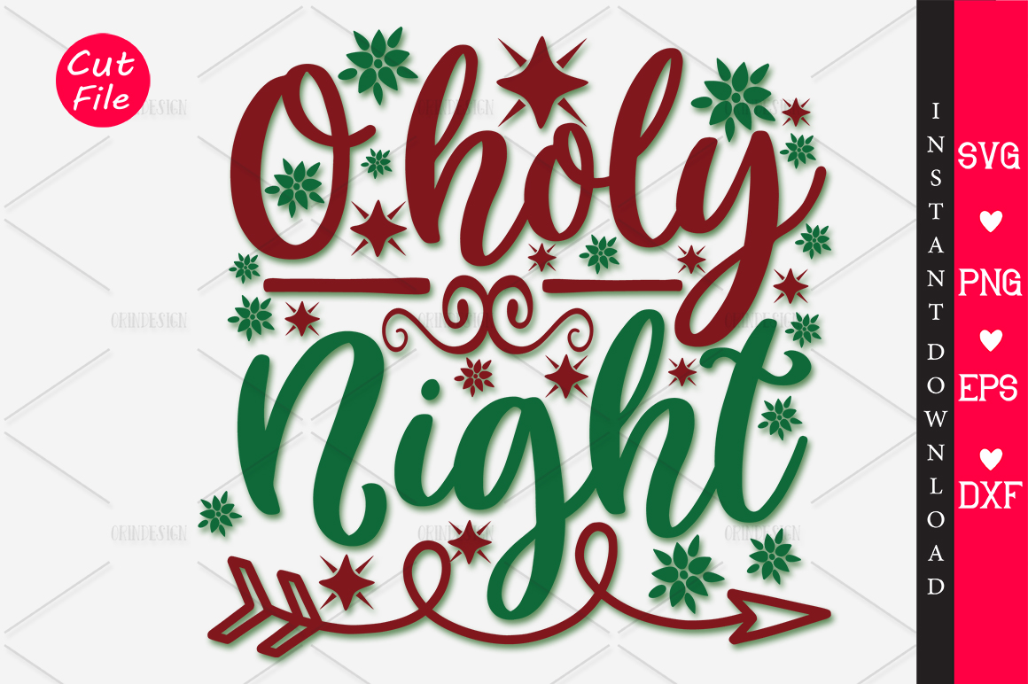 O Holy Night Svg Graphic By Orindesign Creative Fabrica