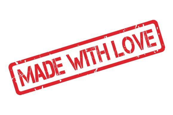 Made With Love Rubber Stamp Stencil Graphic By Graphicsfarm