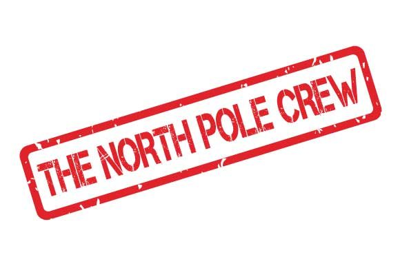 Download Free The North Pole Crew Rubber Stamp Stencil Graphic By Graphicsfarm for Cricut Explore, Silhouette and other cutting machines.