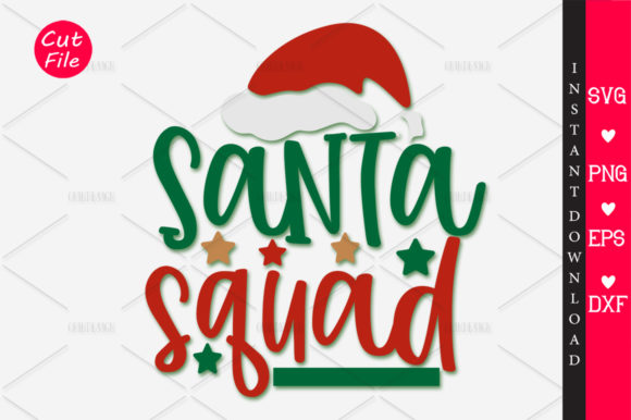 Download Free Santa Squad Graphic By Orindesign Creative Fabrica for Cricut Explore, Silhouette and other cutting machines.