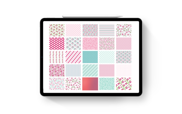 Print on Demand: Flower and Patterned Digital Stickers Graphic Photos By AM Digital Designs