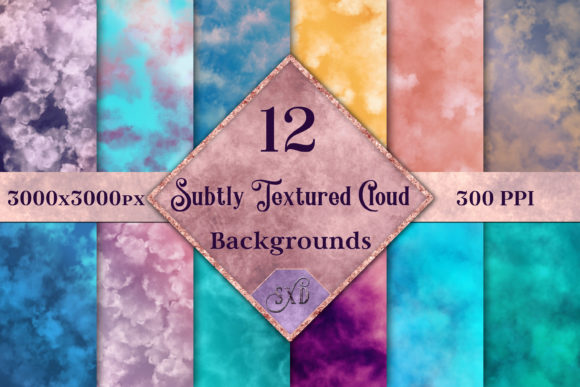 Print on Demand: Subtly Textured Cloud Backgrounds Graphic Backgrounds By SapphireXDesigns