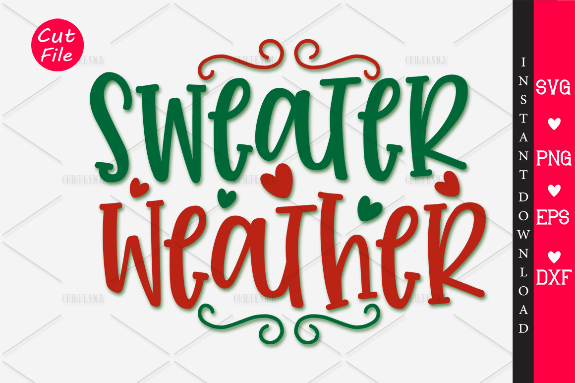Download Free Sweater Weather Svg Graphic By Orindesign Creative Fabrica for Cricut Explore, Silhouette and other cutting machines.