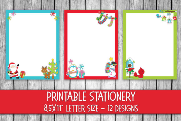 Print on Demand: Cute Christmas Stationery Graphic Crafts By oldmarketdesigns - Image 1