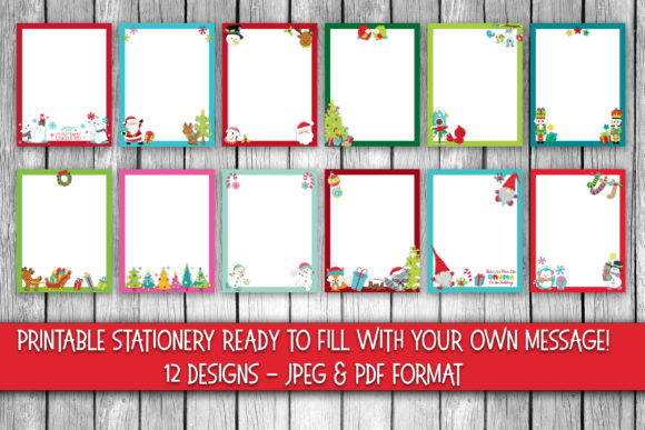 Print on Demand: Cute Christmas Stationery Graphic Crafts By oldmarketdesigns - Image 2