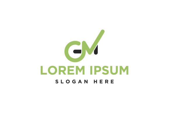 Download Free Letter G M Green Logo Inspiration Isolat Graphic By for Cricut Explore, Silhouette and other cutting machines.