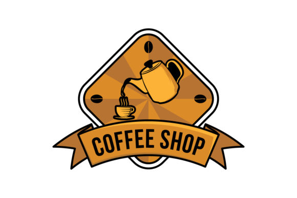 Download Free Coffee Logo Vector Illustration Emblem Graphic By for Cricut Explore, Silhouette and other cutting machines.