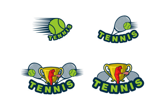 Download Free Set Tennis Logo Design Graphic By Yahyaanasatokillah Creative for Cricut Explore, Silhouette and other cutting machines.