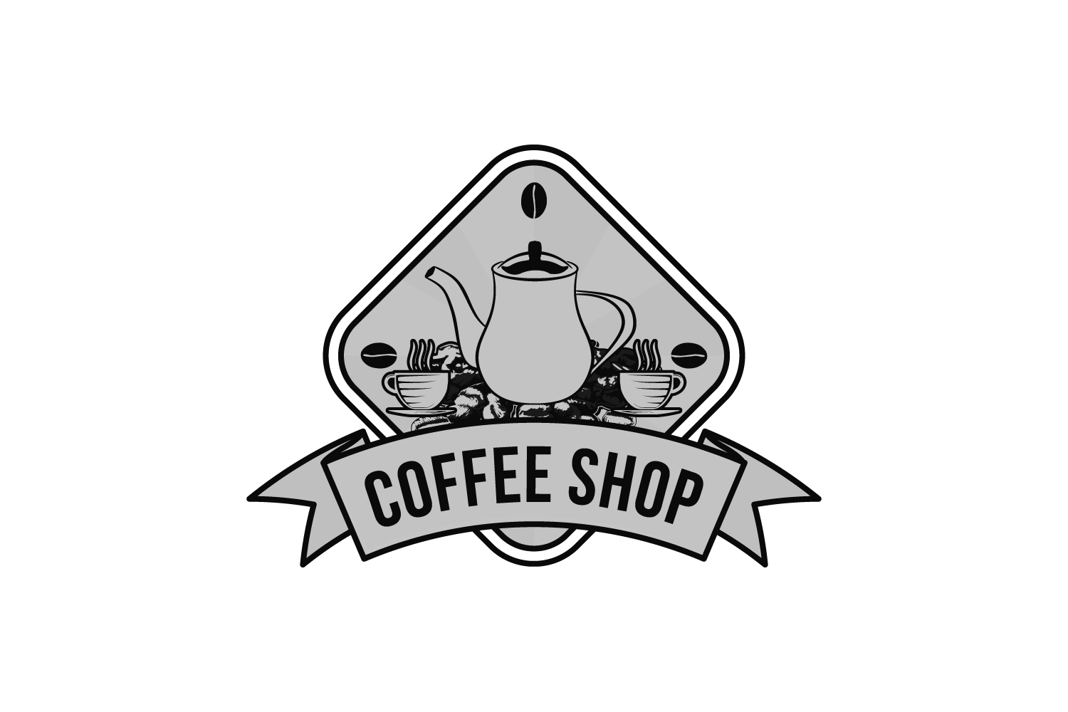 Download Free Vintages Bakery Coffee Shop Logo Design Graphic By for Cricut Explore, Silhouette and other cutting machines.