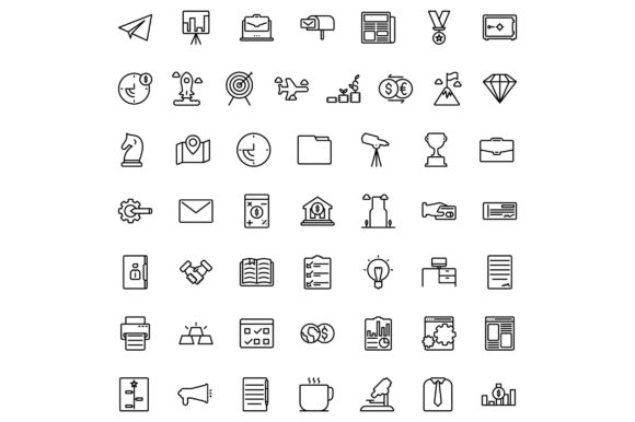 Print on Demand: Business and Finance Graphic Icons By khld939