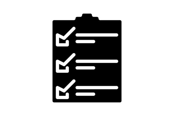 Print on Demand: Checklist Graphic Icons By khld939
