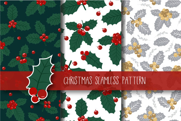 Download Free Christmas Seamless Pattern Garland Graphic By Jann Creative SVG Cut Files