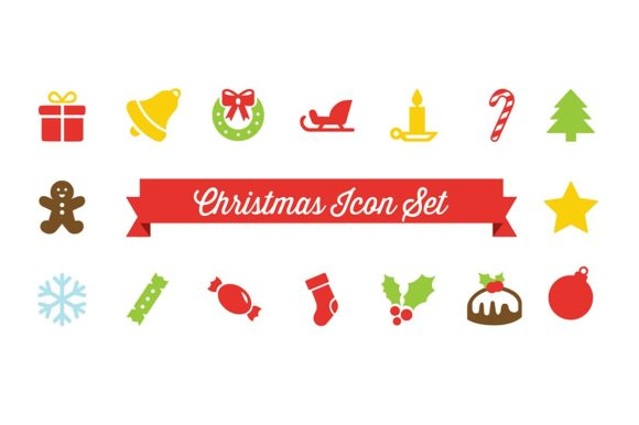 Christmas Vector Icon Set Graphic Icons By cassandra