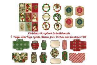 Download Free 7 Christmas Scrapbook Add On Pages Graphic By Scrapbook Attic SVG Cut Files