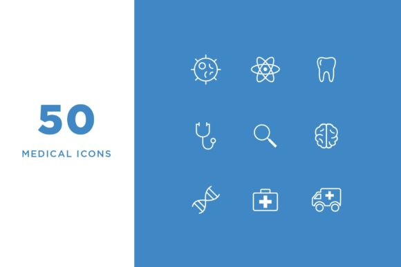 Medical Line Icons Graphic Icons By Cassandra Cappello