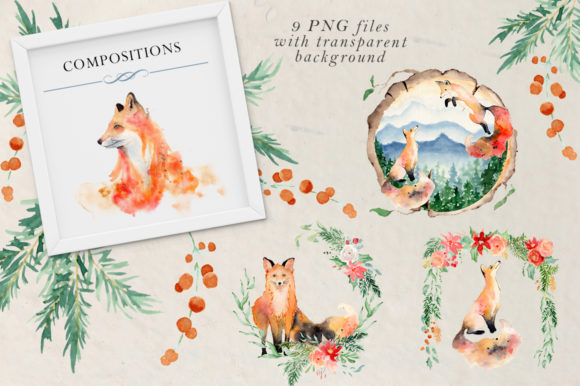 Woodland Story Vol.2 Foxes Graphic Illustrations By EvgeniiasArt - Image 4