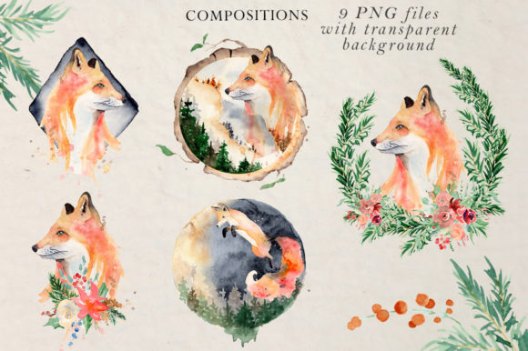 Woodland Story Vol.2 Foxes Graphic Illustrations By EvgeniiasArt - Image 5