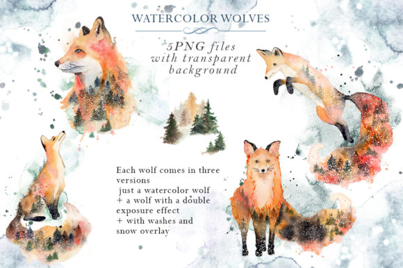 Woodland Story Vol.2 Foxes Graphic Illustrations By EvgeniiasArt - Image 3