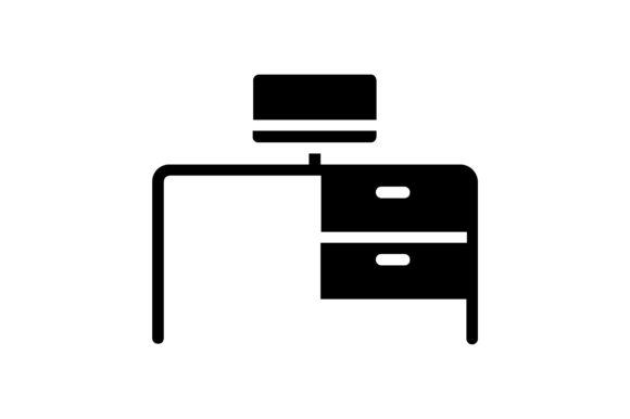 Print on Demand: Desk Graphic Icons By khld939