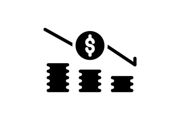 Print on Demand: Currency Falldown Graphic Icons By khld939 - Image 1