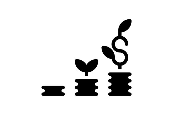 Print on Demand: Financial Growth Graphic Icons By khld939