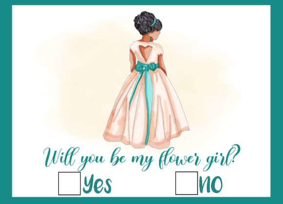 Wedding Flower Girl Proposal Card Graphic Icons By donnahale65