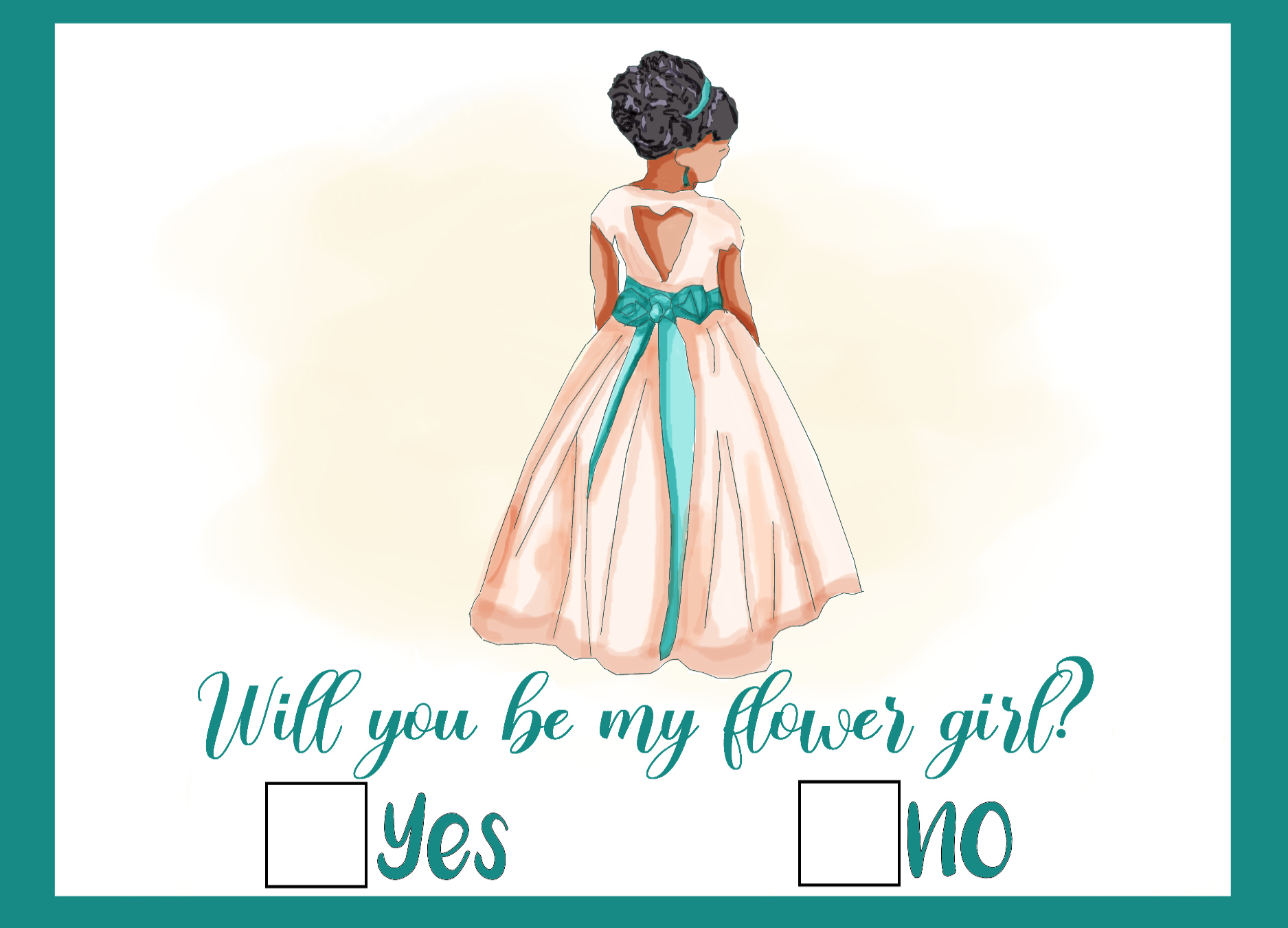 Wedding Flower Girl Proposal Card Graphic By Donnahale65