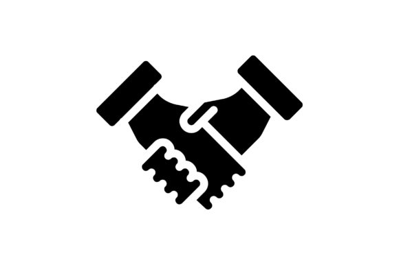 Print on Demand: Handshake Graphic Icons By khld939