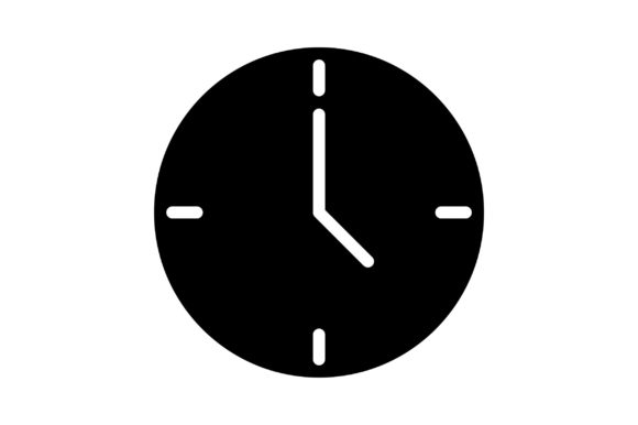Print on Demand: Clock Graphic Icons By khld939 - Image 1
