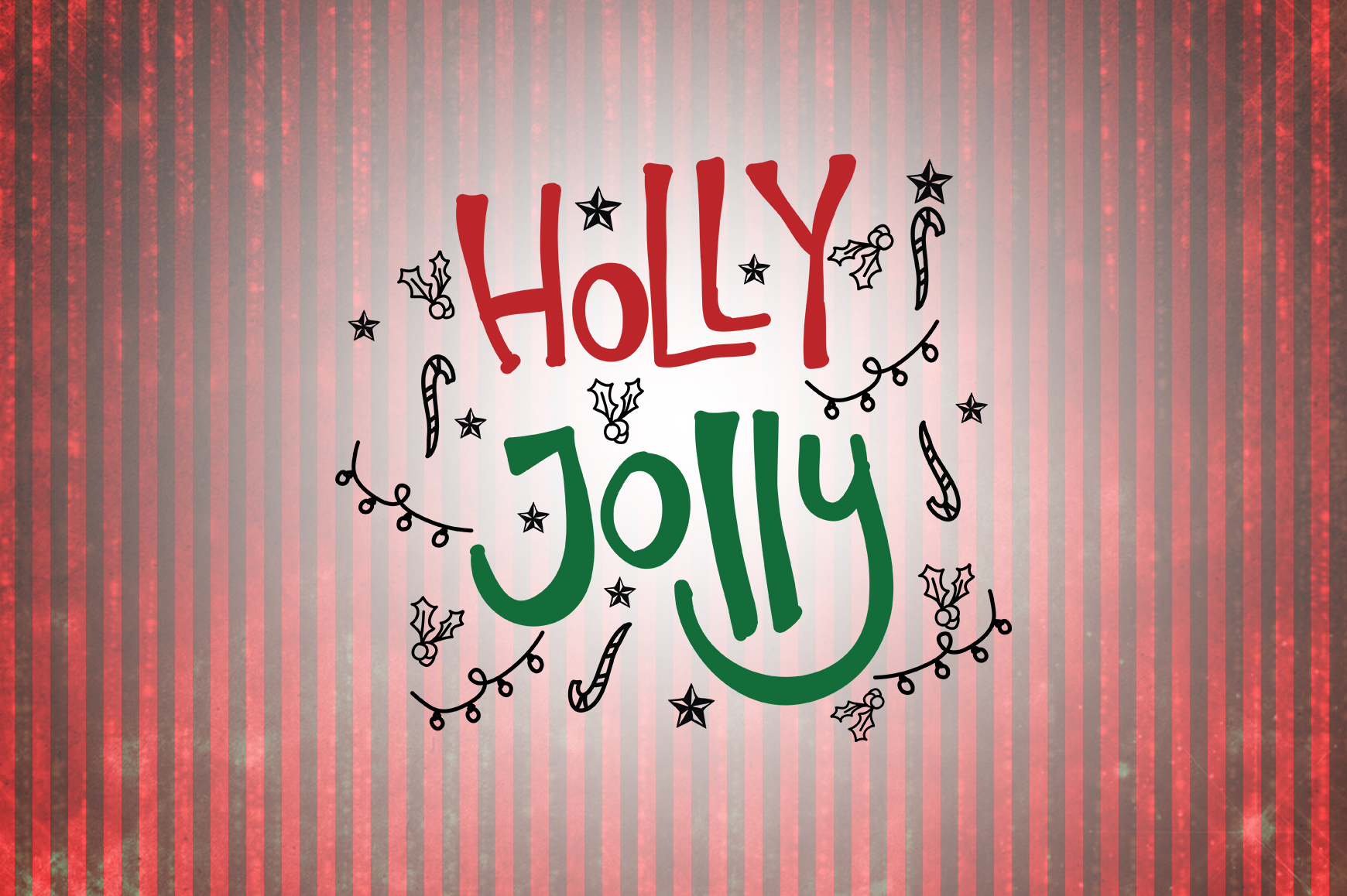 Holly Jolly Christmas Quotes Graphic By Wienscollection