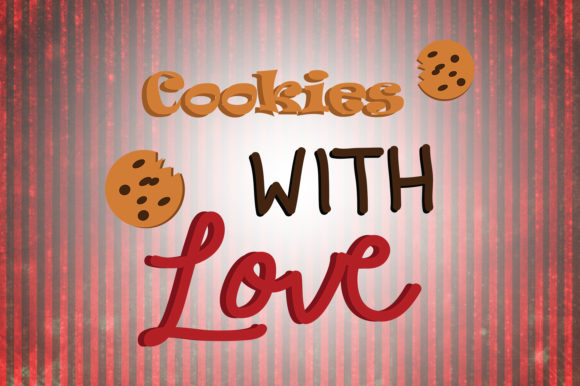 Download Free Cookies With Love Christmas Quotes Graphic By Wienscollection SVG Cut Files