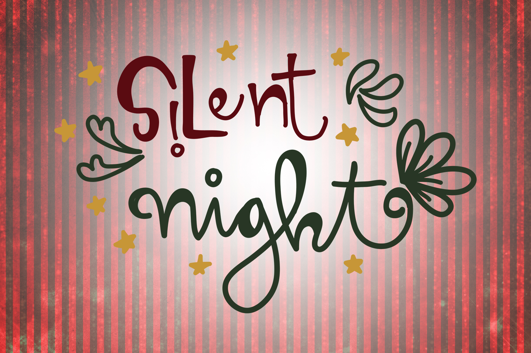 Download Free Silent Night Christmas Quotes Creative Fabrica for Cricut Explore, Silhouette and other cutting machines.
