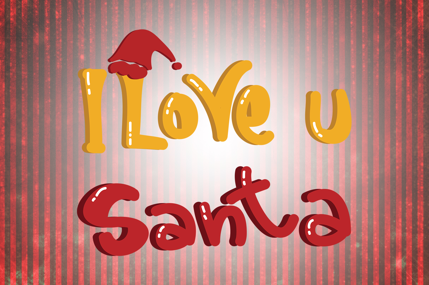 Download Free I Love You Santa Christmas Quotes Graphic By Wienscollection for Cricut Explore, Silhouette and other cutting machines.