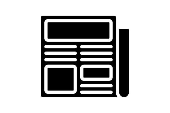 Print on Demand: Newspaper Graphic Icons By khld939