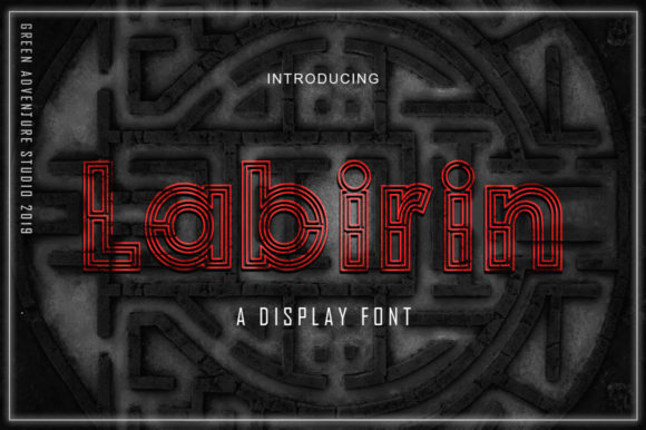 Print on Demand: Labirin Display Font By Green Adventure Studio