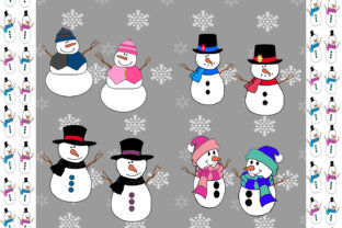 Print on Demand: Snowmen Graphic Illustrations By CapeAirForce