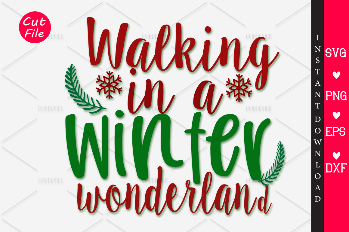 Download Free Walking In A Winter Wonderland Svg Graphic By Orindesign for Cricut Explore, Silhouette and other cutting machines.
