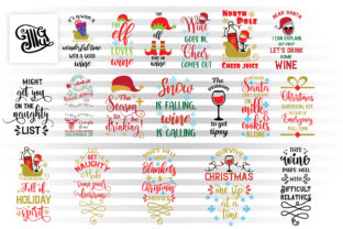 Download Free Christmas Wine Bag Svg Bundle Graphic By Illustrator Guru for Cricut Explore, Silhouette and other cutting machines.