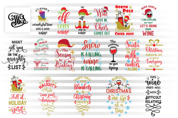 Christmas Wine Bag Svg Bundle Graphic By Illustrator Guru
