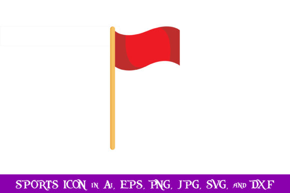 Download Free Red Soccer Corner Flag Sport Icon Graphic By Purplespoonpirates for Cricut Explore, Silhouette and other cutting machines.