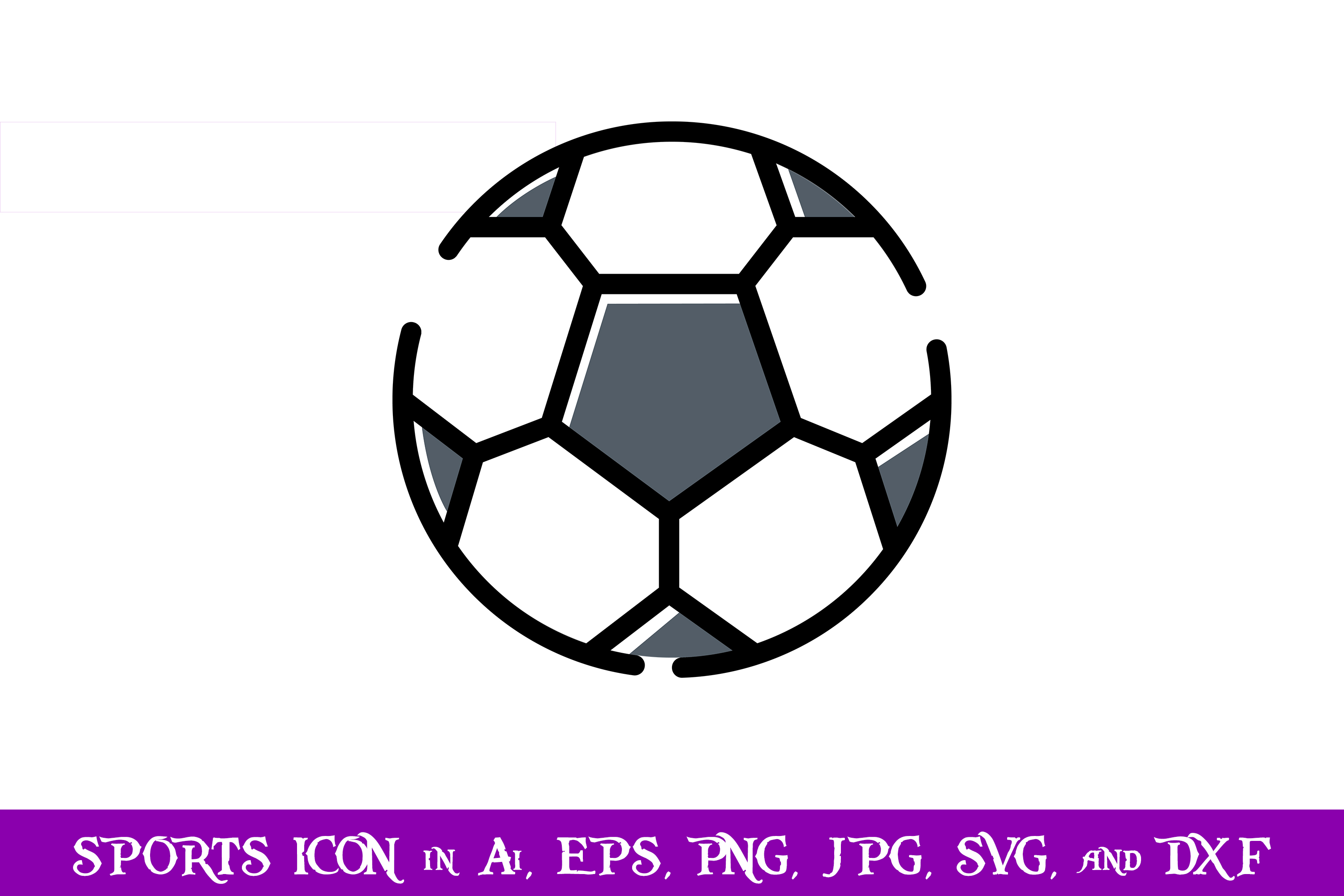 Download Free Ball Soccer Sport Icon Graphic By Purplespoonpirates Creative for Cricut Explore, Silhouette and other cutting machines.