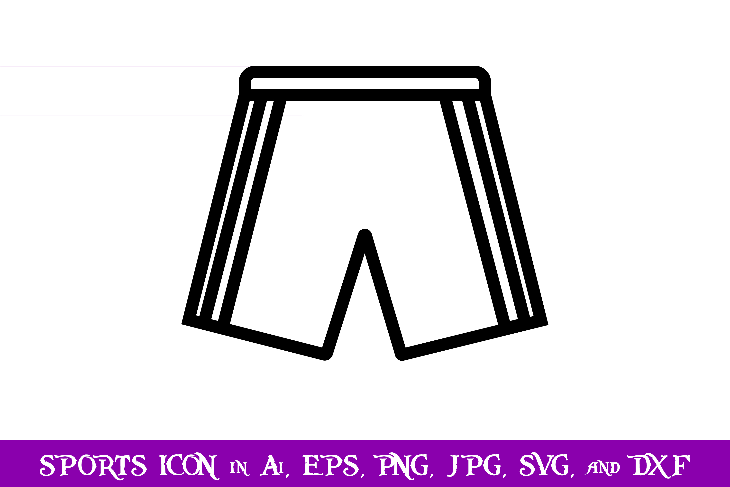 Download Free Soccer Shorts Sport Icon Graphic By Purplespoonpirates for Cricut Explore, Silhouette and other cutting machines.