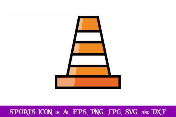 Download Free Training Cones Sport Icon Graphic By Purplespoonpirates for Cricut Explore, Silhouette and other cutting machines.