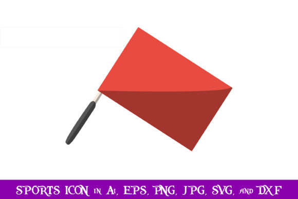 Download Free Linesman Flag Volleyball Sport Icon Graphic By for Cricut Explore, Silhouette and other cutting machines.