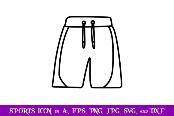 Download Free Shorts Volleyball Sport Icon Graphic By Purplespoonpirates for Cricut Explore, Silhouette and other cutting machines.