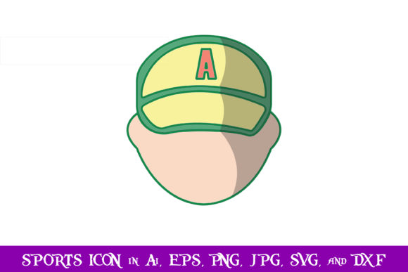 Download Free Baseball Player Sport Icon Graphic By Purplespoonpirates SVG Cut Files