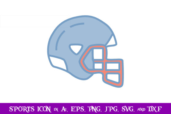 Download Free Rugby Helmet Sport Icon Graphic By Purplespoonpirates Creative for Cricut Explore, Silhouette and other cutting machines.