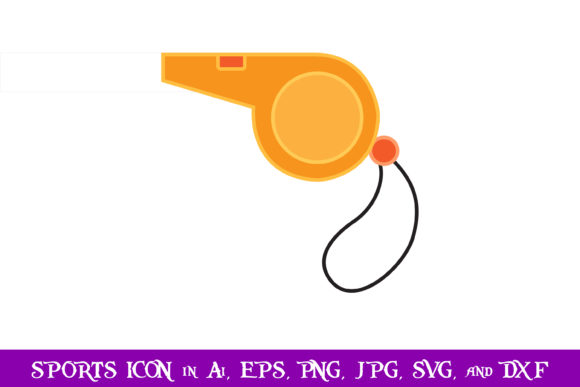 Download Free Referee Whistle Sport Icon Graphic By Purplespoonpirates SVG Cut Files