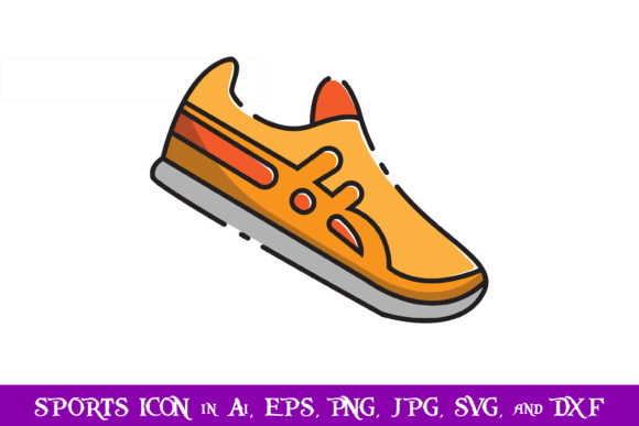 Download Free Badminton Shoes Sport Icon Graphic By Purplespoonpirates for Cricut Explore, Silhouette and other cutting machines.